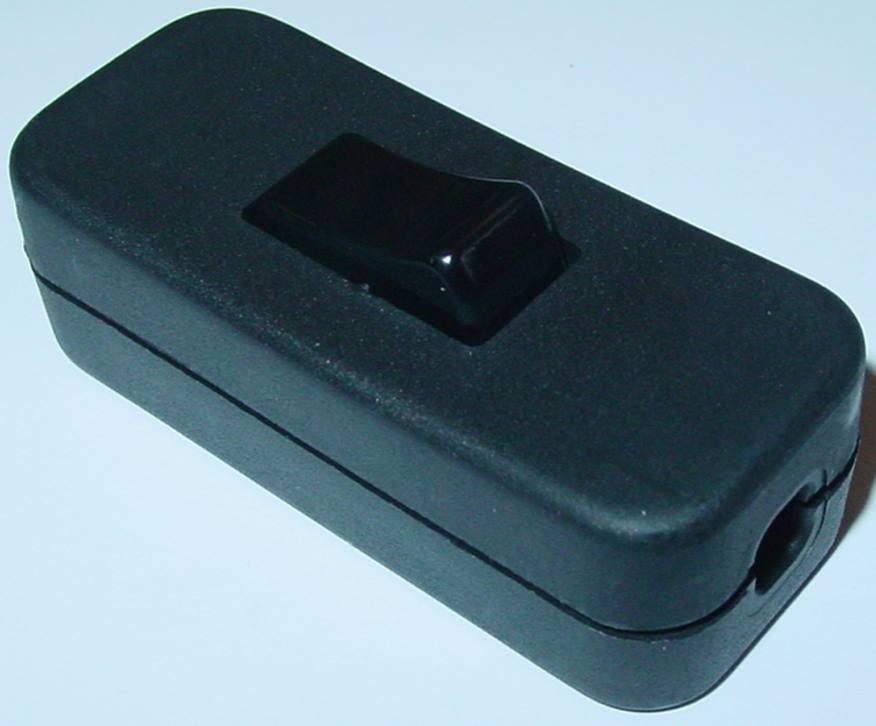schnurzwischenschalter schwarz schnurschalter mit nullleiter top 230v 2a s103 ebay. Black Bedroom Furniture Sets. Home Design Ideas