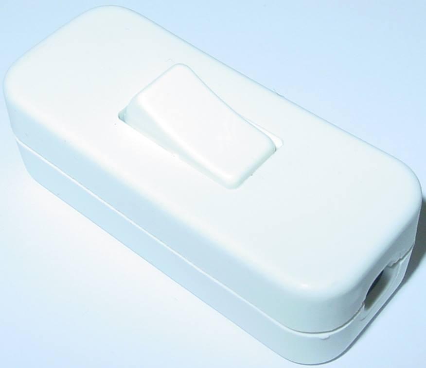schnurzwischenschalter weiss schnurschalter mit nullleiter top 230v 2a s105 ebay. Black Bedroom Furniture Sets. Home Design Ideas