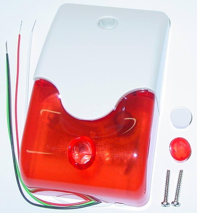 LED /<110db//1m sehr laut 12V Alarmsirene mit Blitzer Rot Marke