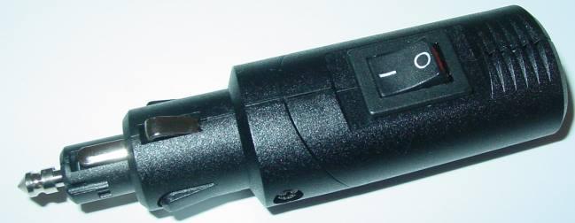 Zigarettenanzünder Adapter mit Schalter Normal und DIN Dose 12V//8A  D46D